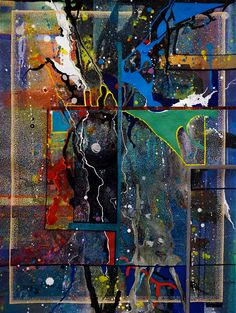 Inspiration 6 by Douglas Pendleton. Acrylic painting. Meet our newest local artists, Doug! Doug creates his beautiful abstract acrylics at Saint Francis House, a haven for homeless individuals in Boston. Check out his beautiful abstractions at http://www.artlifting.com/douglas-pendleton #ArtLifting #inspirational #abstract