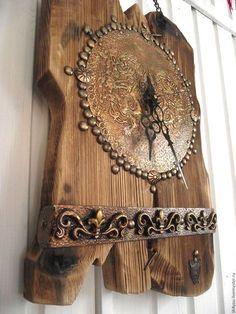 """Часы для дома ручной работы. Часы настенные """"Былое богатство..."""". Все для души от Лилии. Ярмарка Мастеров. Уютный дом"""