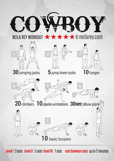 Cowboy Workout (great site, ton of workouts)