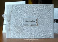 Handmade by Meda: Simple Black and White Wedding Invitations (Invitatii de nunta simple cu alb si negru)