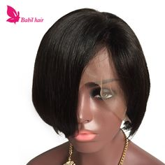 7A Human Bob Full Lace Front Wigs Natural Malaysian Virgin Hair Glueless Bob Full Lace Front Human Hair Wigs For Black Women
