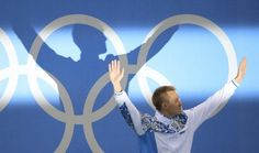OLYMPICS-RIO-SWIMMING-M-200MBREAST 2016 Rio Olympics - Swimming - Victory Ceremony - Men's 200m Breaststroke Victory Ceremony - Olympic Aquatics Stadium - Rio de Janeiro, Brazil - 10/08/2016. Dmitriy Balandin (KAZ) of Kazakhstan poses with his gold medal.