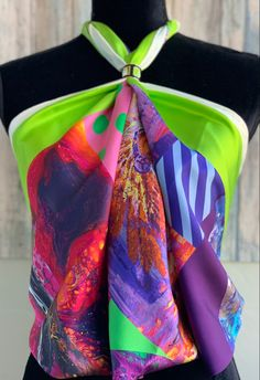 Striking Finch Birds Multi Coloured Print Pashmina Scarf Wrap Shawl New