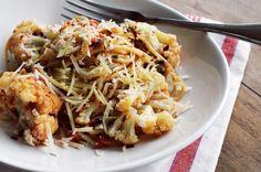 Spaghetti integral de couve-flor com ricota_F&F