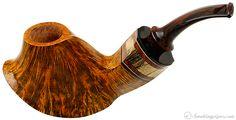 Daniel Mustran Smooth Volcano with Padauk and Macassar Ebony Pipes at Smoking Pipes .com