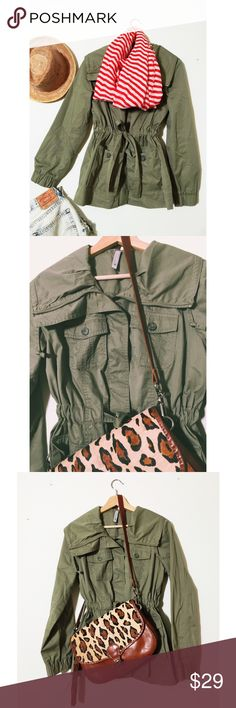 Green Cargo Jacket Give me your best offer. Never worn, green cargo jacket. Great fabric. Great details. Even though it's old navy it's great quality. I kinda don't want to sell it now that I made this cute outfit for Poshmark  Old Navy Jackets & Coats Utility Jackets