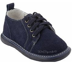 Wee Squeak Baby Toddler Little Boys Dark Blue Suede Lace up Shoes 3-12 Wee Squeak. $37.99