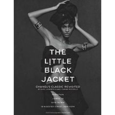"the little black jacket: chanel's classic revisited...  http://www.amazon.com/gp/product/3869304464/ref=as_li_ss_tl?ie=UTF8=1789=390957=3869304464=as2=wwwvickiarche-20"">"