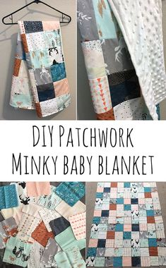 Patchwork minky baby blanket - Retro Love Photography - DIY patchwork minky baby blanket You are in the right place about baby room rustic Here we offer yo - Patchwork Blanket, Patchwork Baby, Patchwork Patterns, Blanket Patterns, Blanket Crochet, Dress Patterns, Crochet Baby, Easy Baby Blanket, Minky Baby Blanket