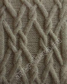 плетенка из переплетающихся кос   каталог вязаных спицами узоров