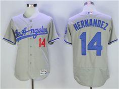 52340c7a Los Angeles Dodgers #14 Enrique Hernandez Grey Flex Base Jersey Dodgers  Jerseys, Soccer Jerseys