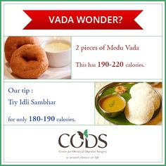 Hot crispy Medu Vada can be very tempting. But do you know how much calories it has? Here is a tip from our nutritionist team to cut down the calorie intake. #CODSIndia #nutrition #IndianFood