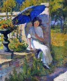 Mary Bradish Titcomb (1858-1927) The Blue Parasol