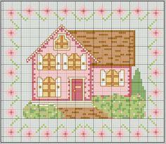Artesanato e Cia: Gráficos de casas para ponto cruz-lindas