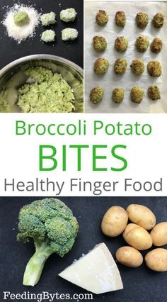 Healthy and nutritious broccoli potato bites - perfect finger food for babies and toddlers
