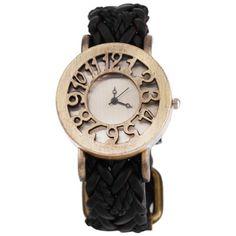 Retro Women Quartz Watch Hollow Dial #women, #men, #hats, #watches, #belts, #fashion, #style