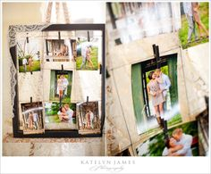 display engagement session pictures  @Autumn Wilson This is cool!  You like this with maybe Burlap instead of lace?