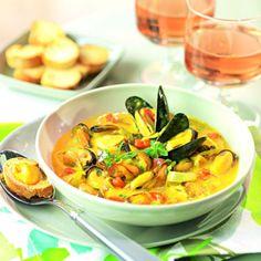 Recette bouillabaisse de moules - Cuisine et Vins de France