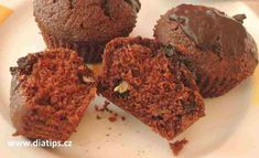 Čokoládové cuketové muffiny | Tipy na dietu bez cukru Breakfast, Desserts, Food, Morning Coffee, Tailgate Desserts, Deserts, Essen, Postres, Meals