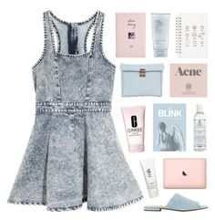 """WEEPING ANGEL"" by emmas-fashion-diary ❤ liked on Polyvore featuring MINKPINK, Joe's Jeans, 3.1 Phillip Lim, Blink, Prada, Clinique, Kiehl's, H2O+, Muji and Estée Lauder"
