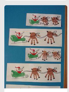 Rudolph Crafts - Regalos y golosinas - Weihnachtsdeko/Christmas/jul - Handabdruck / Fussabdruck Weihnachten, Weihnachtsmann, Rentier – ¡Artesanía navideña de huella - Kids Crafts, Baby Crafts, Toddler Crafts, Preschool Crafts, Infant Crafts, Crafts For Babies, Preschool Christmas, Christmas Holidays, Christmas Handprint Crafts