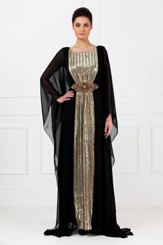 a7e090e28c1b Cheap crystal evening dress, Buy Quality kaftan dress directly from China evening  dress Suppliers: New 2016 Evening Gowns Black Chiffon Gold Sequins Abayas  ...