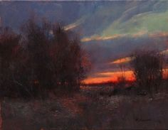 "Marc Hanson ~ ""Scarlet Sunset"" ~ 16"" x 20"" Oil ~   In the ""Dan Beck, Peter Fiore & Marc Hanson Show"" October 1-31"