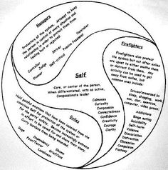 IFS/ Internal Family Systems : everyone has this healthy and healing Self despite the fact that many people initially have very little access to it. When working with an individual, the goal of IFS is to differentiate this Self from the parts, thereby releasing its resources. When the individual is in the state of Self, we can work together to help the parts out of their extreme roles.