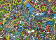 Natascha Schwarz - Detail of Berlin map
