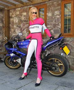 Motorcycle Girls! The always sexy Nina Jay on his Yamaha R1
