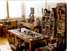 """The first time I visited Kiff's studio her inspiration / staging table took my breath away and gave me that very good feeling of jealously, lust and desire. Looking at her things is like sifting through the best detritus and flotsam of one's dreams. A sort of paradise of a virtual beachcomber."" - Galen Lowe"