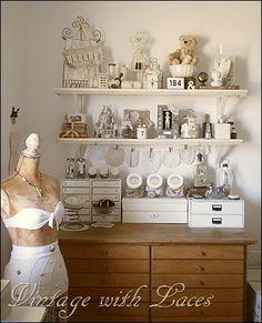 Where Bloggers Create 2013.  I need more shelves!