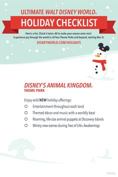 Celebrate the winter holiday season at Walt Disney World Resort with experiences like Mickey's Very Merry Christmas Party, Epcot International Festival of the Holidays and more. Disney Destinations, Walt Disney World Vacations, Disney Travel, Family Vacations, Disney World Tips And Tricks, Disney Tips, Disney Ideas, Disney Disney, Disney Cruise