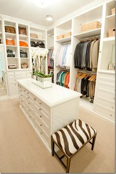 Sigh..... Most of us can only DREAM of a closet like this. ;)