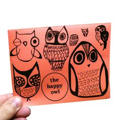 zine: the happy owl  --  owl illustration, indie, zines, drawing, cute owls, owl art, adorable owl, paper art, books. $3.00, via Etsy.