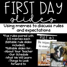 First Day Slides- Using Memes to go over Classroom Rules - Future Classroom - Bitmoji Classroom Rules Memes, Classroom Procedures, Classroom Behavior, Classroom Management, Classroom Ideas, Highschool Classroom Rules, Funny Classroom Posters, Class Rules Memes, Classroom Routines