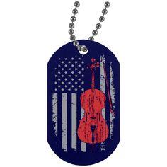 American Cello Dog Tag