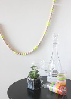 neon bead party garland.