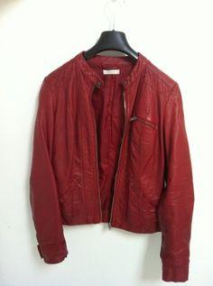 veste en simili cuir rouge taille s 6