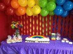 1st Birthday, Balloon background minus the rainbow cake