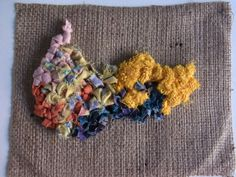 Week10 - 4.12.2013 From this rag rugging, I could know how I want to use rag rug into my work. My rag rug samples are much smaller than this piece, and different fablic. The samples look like unfinished, uncompleted... and I feel comfortable with these my samples.  So I'll develop an idea of the samples.