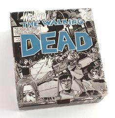 The Walking Dead Zombie Apocalypse Comic Book Cigar Box by Paper Vs. Glue