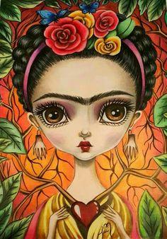55 Ideas for painting frida kahlo mexican folk art Pop Art, Kahlo Paintings, Frida And Diego, Frida Art, Arte Popular, Mexican Folk Art, Whimsical Art, Art Plastique, Portrait Art