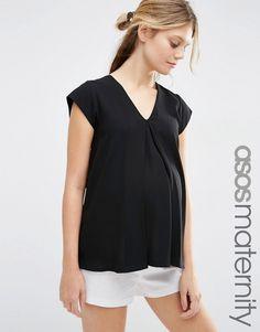 Image 1 ofASOS Maternity V- Neck Origami T-Shirt
