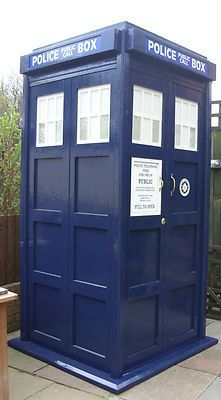 Blue Police Phone Box Garden for sale £205.00
