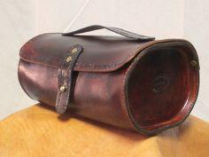 Thunder Alley Designs - Vintage style leather dopp kit toiletry bag portmanteau