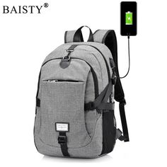 2018 New Men Male Oxford Multifunction USB charging Backpack College  Student School Backpack Bags for Teenagers 4439c36291341