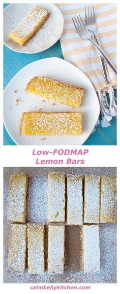 Lemon Bars with Almond Shortbread Crust (Gluten free, low-FODMAP)