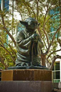 Yoda Fountain at Lucasfilm in San Francisco