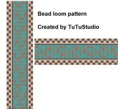 Bead loom pattern Gold wreath par TuTuStudio sur Etsy